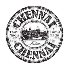 Chennai grunge rubber stamp