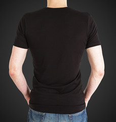 boy in black t-shirt