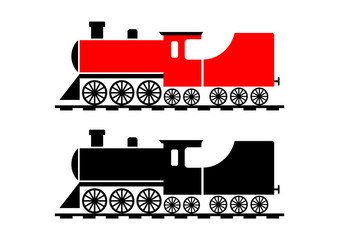 Train icon on white background