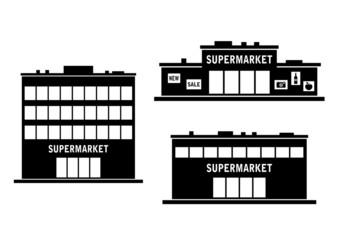 Supermarket icon on white background