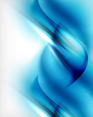Blue aqua wave designed business poster