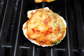 Stuffed Clam on a Summer Grill