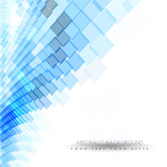 Abstract business background with blue squares