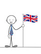 STICKMAN HOLDING BRITISH FLAG (language translation learn)
