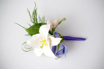 Colorful bouquet of flowers on a white background