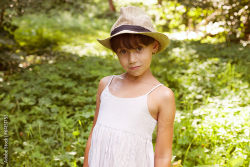 Cute little girl in a hat