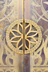 Detail on a Mosque door in Dubai
