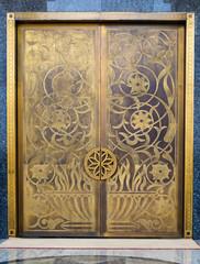 Close-up of a mosque door, Dubai