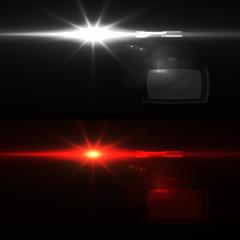 Amazing Light with optical flares