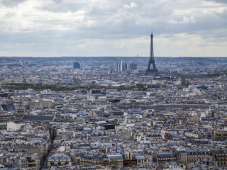 Paris, France. View of the city from Sacre Coeur