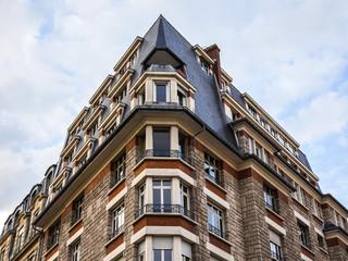 Paris, France. Architectural details typical Parisian buildings
