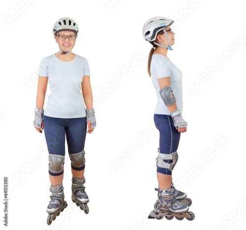 woman roller skating