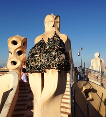 roof of la pedrera, Barcelona