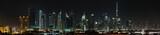 Dubai. World Trade center and Burj Khalifa at night