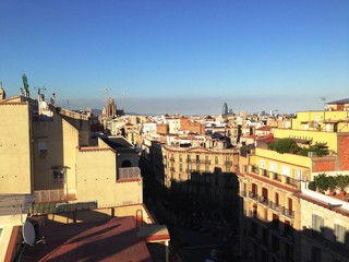 view from the roof of la pedrera