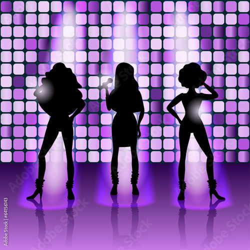 singing girls disco style