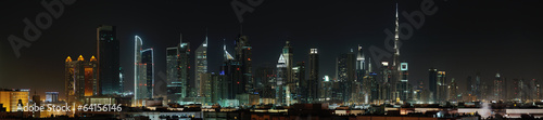 Deurstickers Midden Oosten Dubai. World Trade center and Burj Khalifa at night
