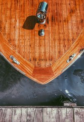 Venice, a wooden boat