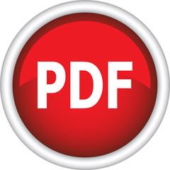 Круглый векторный знак с надписью PDF