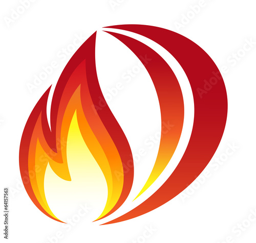 Red fire icon