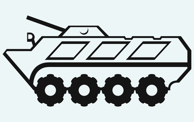 Wheeled armoured personnel carrier