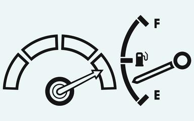 Indicator. Gas tank