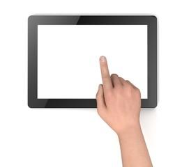 touching digital tablet
