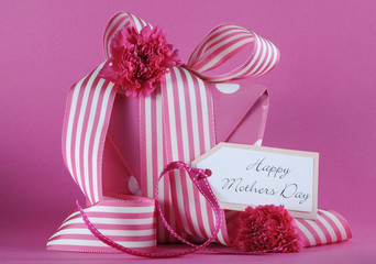 Happy Mothers Day pink polka dot gift