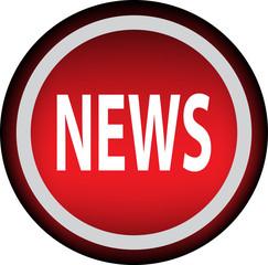Круглый векторный знак с надписью NEWS