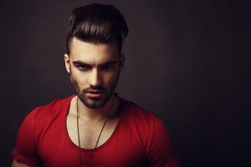 Male beauty portrait