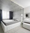 nice interior of european bedroom