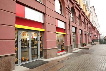 window of beautiful european store