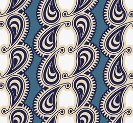 Seamless luxury paisley illustration vector