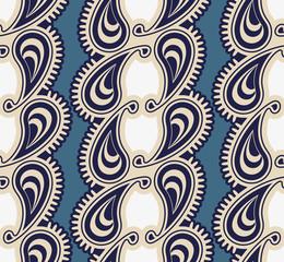 Seamless luxury paisley illustration vector