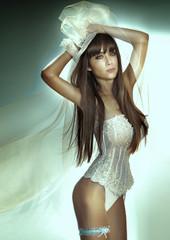Sexy brunette woman.