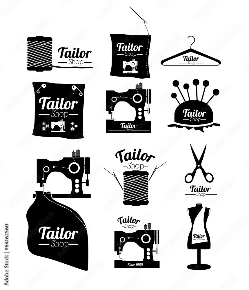 tailor shop design wall sticker wall stickers tailor shop design wall sticker