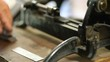 letterpress printer using vintage cutter