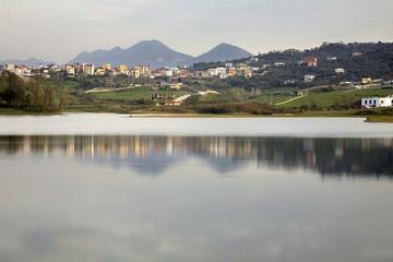 Artificial Lake. Albania