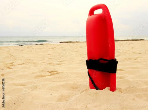 Red plastic lifeguard tube - 64162748