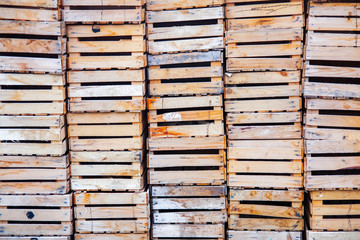 Old wood boxes, Morocco
