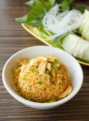 Fried rice with garlic