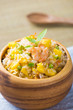Chinese Cuisine  Fried Rice with Vegetables and seafood