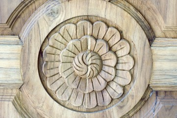 Carved wooden door 1