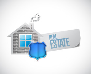 real estate sign illustration design