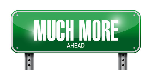 much more ahead signpost illustration design