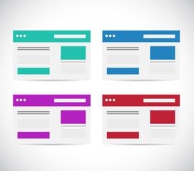 different color set browser illustration design