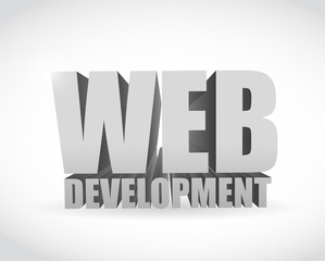 web development text sign illustration design