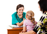 young girl at the doctor