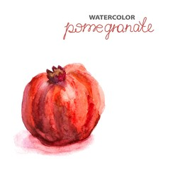 Background with watercolor pomegranate