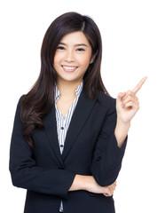 Asian business woman get idea